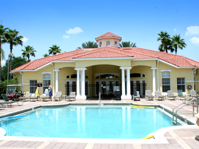 Awesome florida homes clubhouse vacation home for for Florida pool homes